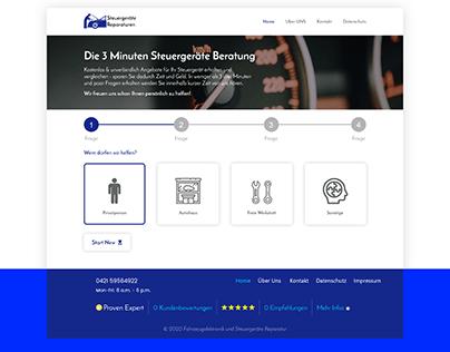 German Website UI