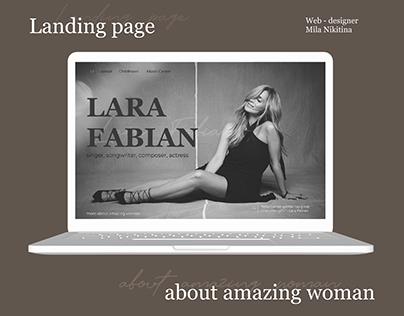 Landing page about Lara Fabian