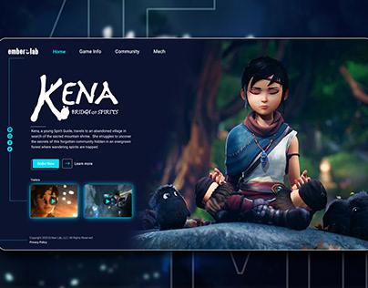 KENA bridge of spirits website concept