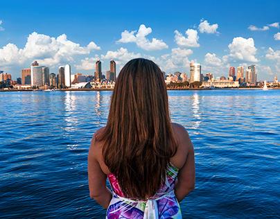 View from Coronado Island, San Diego