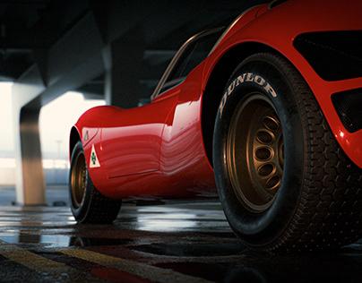 Alfa Romeo 33 Stradale CGI