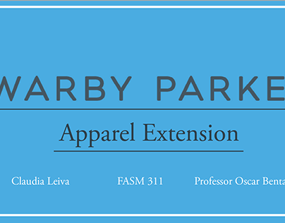 Warby Parker Apparel Extension