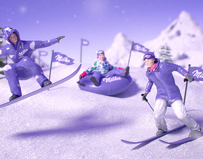 "Milka ""Snowy to tender"""