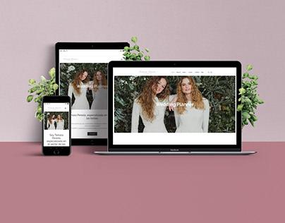 Diseño Web Wedding planner y asesora de imagen.