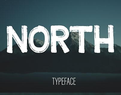 North - Free Textured Brush Font