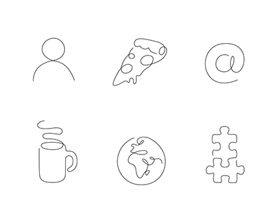 One line - 100 icons