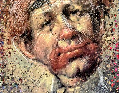 Clown Peter Navarro Triptych