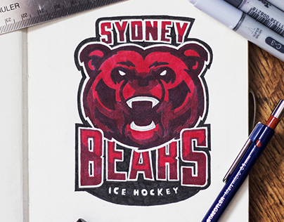 Sydney Bears Ice Hockey Logo Design