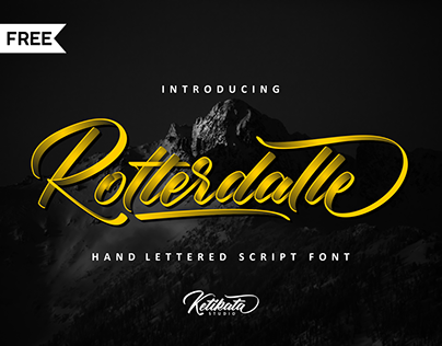 FREE l Rotterdalle Script Font