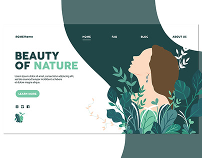 Beauty of Nature - Landing Page
