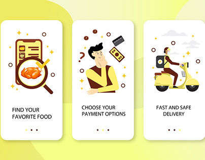 Onboarding Screens - Food Delivery