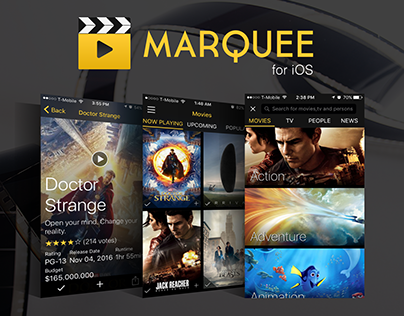 Marquee Movie App for iOS