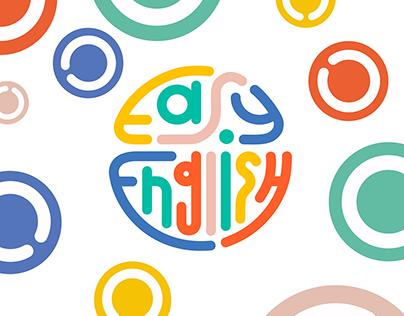 Разработка логотипа и инстаграм аккаунта / EASY ENGLISH