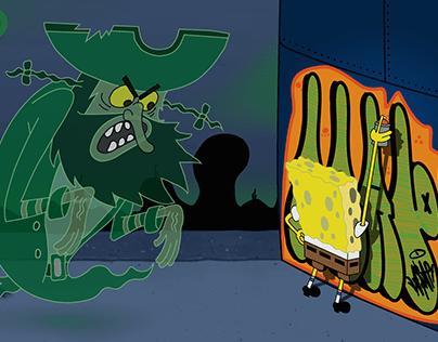 Flying Dutchman x SpongeBob Throwie Pantz