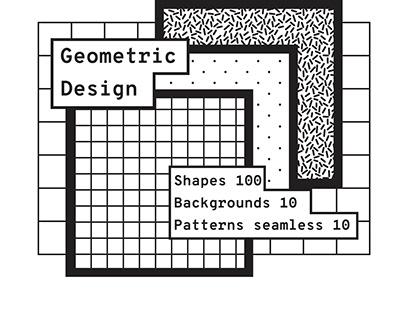 Geometric design. Shapes + patterns