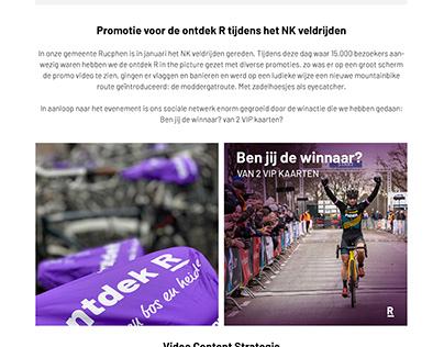 Branding / online platform ontdek R leisure promotion