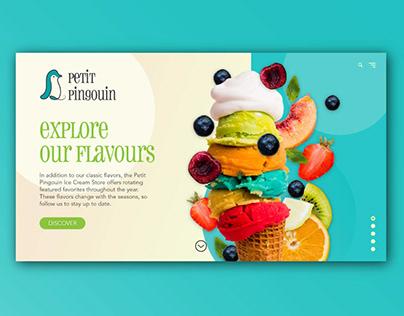 Petit Pingouin logo and webdesign