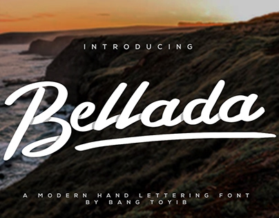Free Bellada Brush Font