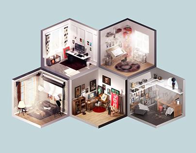 Room of artist