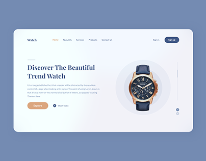 Homepage Header UI Design - واجهة استخدام هيدر الرئيسية