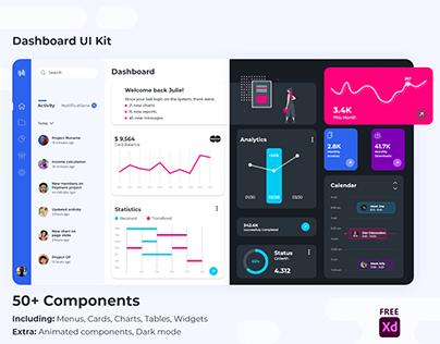 XdDash - Free Dashboard UI Kit for Xd