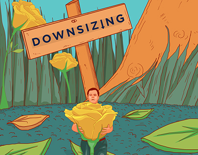 Downsizing Movie Still Illustration