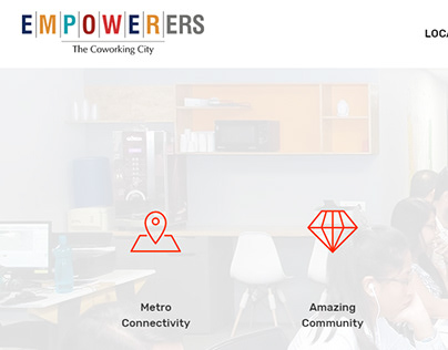 Empowerers Coworking Landing Page Design