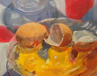 Egg still life paintings