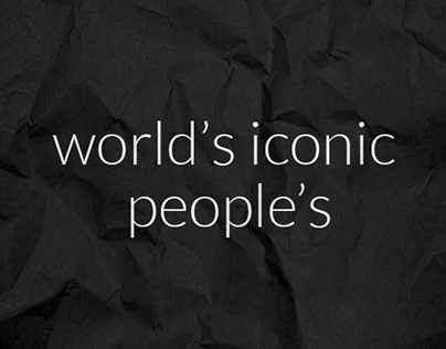 world's iconic people's