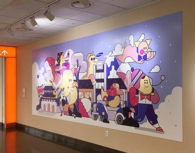 Samsung seoul hospital happy wall project