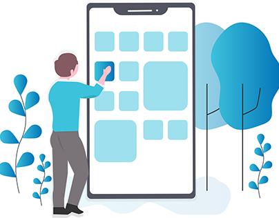 Mobile App Education - Illustration