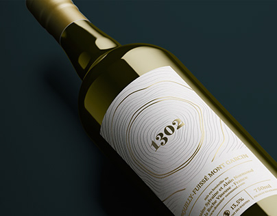 Étiquette de vin - Cuvée 1302