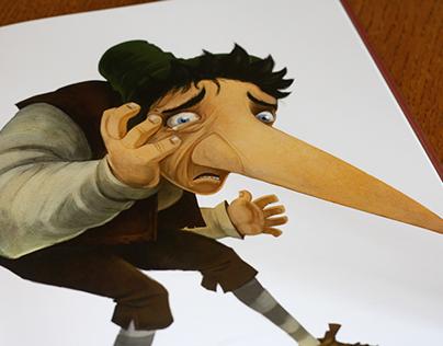 Book illustration. Dwarf Nose.
