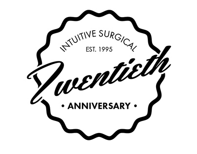 Intuitive Surgical 20th Anniversary Logos