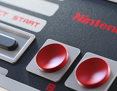 Nintendo Entertainment System 3D modelling