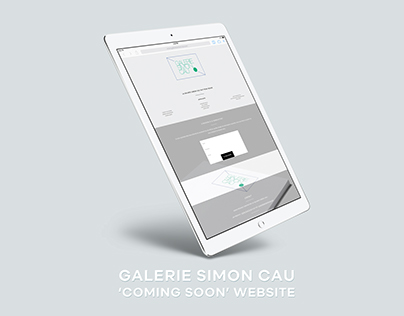 'Coming Soon' website for the Galerie Simon Cau