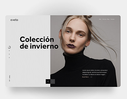 UI concept design: Eveto