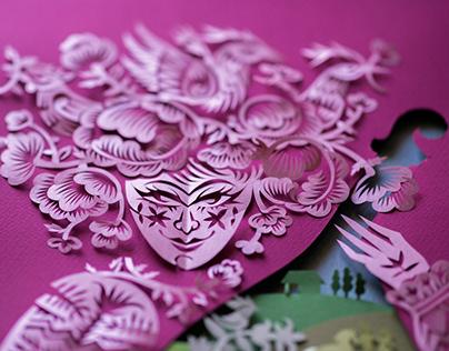 Paper Cutting Illustration. Marusya Churai