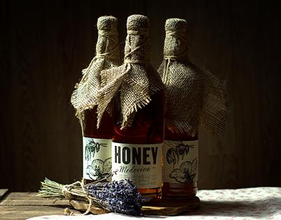 """HONEY"" - mead label & package design"