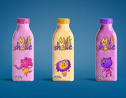 Characters for the packaging of a milkshake