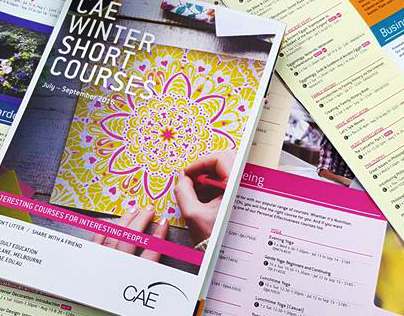 CAE Autumn 2016 Short Course guide