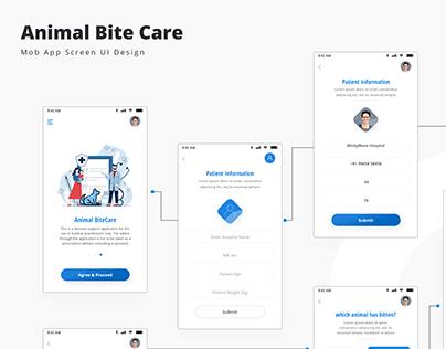 Animal Bite Care_Mob App UI Design