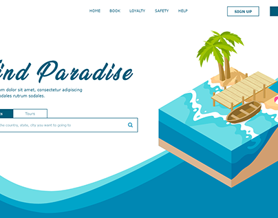 Find Paradise - Travel Booking Landing Page
