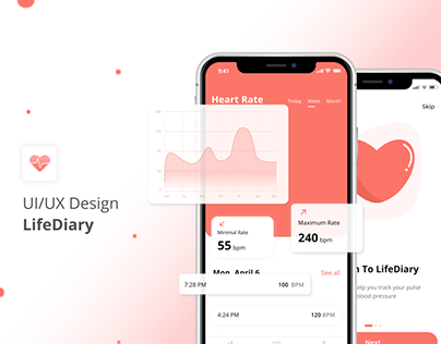LifeDiary Heart Rate Mobile App