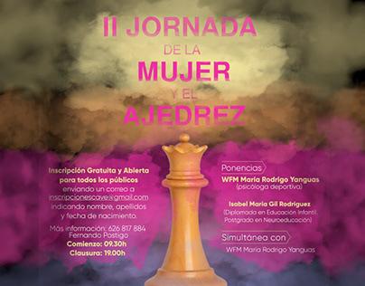 Cartel II Jornada de la Mujer y el Ajedrez