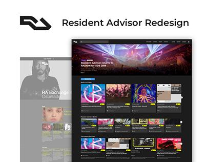 Resident Advisor Desktop Website - Redesign