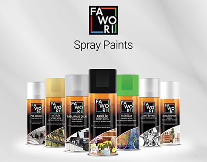 Fawori Spray Paints Package Design & Promotion Movie