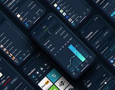 Verge iOS Wallet concept | Mobile App