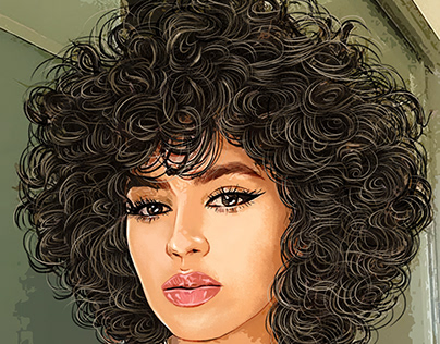 Curly Hair Lady