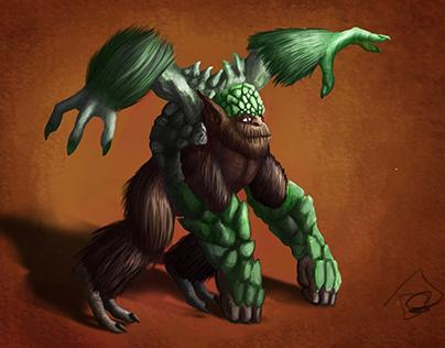 Monstruo mono reptil